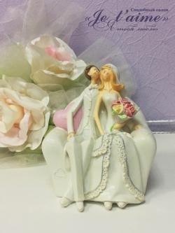 """Статуэтка """"Жених и невеста"""" № 3"""